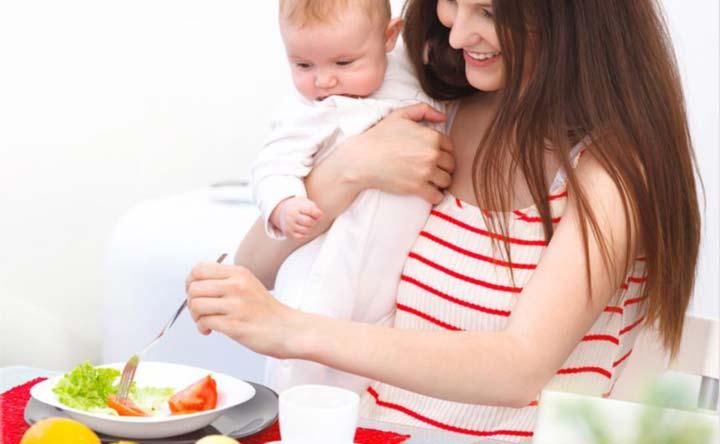 Cosa mangiare durante l'allattamento